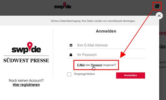 E-Mail oder Passwort vergessen